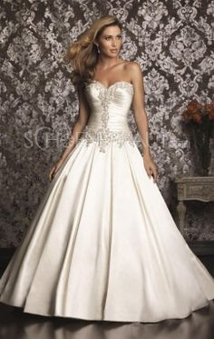 A-linie herzförmiges Bustier Straß Applikation Taft bodenlang Hochzeitskleid