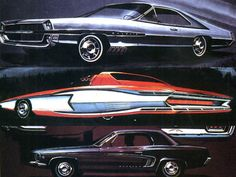 1968 Ford Styling Sketches by Homer LaGassey