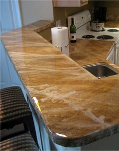 DesignCrete Concrete Overlay Countertops   Green Counters Faux Finished To  Look Like Stone