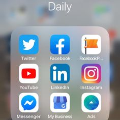 What are your daily go to social media platforms and how do you access them?  Do you place them on your phone on the Home page?  Do you place them altogether like this?  It means you can see where all your daily notifications are and you can respond faster!  How do you organise yours?  #daily #phonebuttons #beingorganised #socialmedia #socialmediamarketing #socialmediamanager #socialmediatrainer #socialmediamanagement #businesssupporter #networker #wordpresssavvy #sme #support #network…