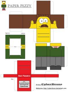 Paper Pezzy- Ned Flanders by CyberDrone.deviantart.com on @deviantART