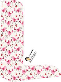 Alfabeto con pájaros en rosa. | Oh my Alfabetos!