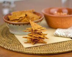 Spicy Cumin-Cheddar Crackers / @DJ Foodie / DJFoodie.com