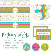 Birthday Brights Party Pack #freeprintables #birthdayprintables #ishareprintables