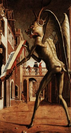 St. Wolfgang and The Devil(detail) byMichael Pacher