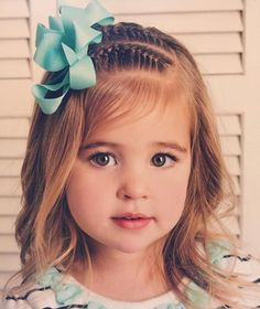 50 Cute Little Girl Hairstyles — Easy Hairdos For Your Little Princess Check m. - Hairstyles For You Cute Little Girl Hairstyles, Cute Girls Hairstyles, Princess Hairstyles, Braided Hairstyles, Teenage Hairstyles, Braided Updo, Prom Hairstyles, Trendy Hairstyles, Mermaid Hairstyles