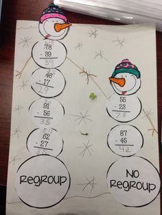 Double digit addition and subtraction project