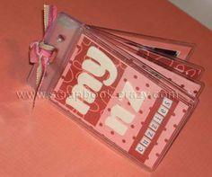 Cute mini-album made with ID card holders