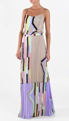 Arizona Pleated Skirt and Cami by Tibi