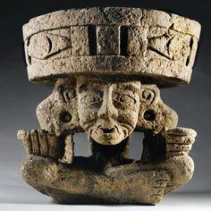 "Aztec Deity Tezcatlipoca, ""The Old, Old Deity"" Huehueteotl"