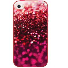 Pink Glitter Iphone4 Case ($5) ❤ liked on Polyvore featuring accessories, tech accessories, phone cases, phones, cases, iphone and view all accessories