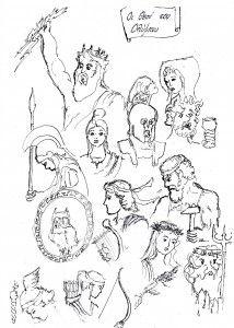 Οι Θεοί του Ολύμπου :: 9odimkilkis Ancient Greece, Greek Mythology, History, Comics, Printables, Art, Art Background, Historia, Print Templates
