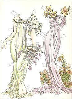 Miss Missy Paper Dolls: Paper Dolls in the Style of Mucha