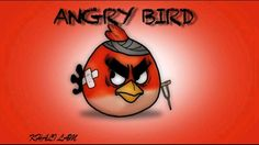 Angry bird cool artwork drawing