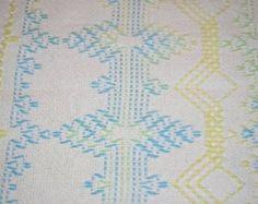 White Swedish Weaving Blanket