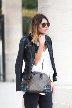 Style your basics with leather details for an added edge to your look. | Natalya Kanj