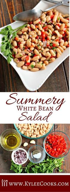 Served chilled or at room temperature, this Summery White Bean Salad is great to make ahead, or to grab and go! A 5 minute prep time means you can have it on the table fast! via @kyleecooks