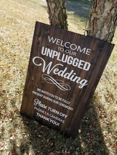 Unplugged Wedding Wood Sign, Wooden Sign, No Cell Phone Sign, Custom Wood Sign Wood Wedding Signs, Diy Wedding, Wedding Events, Rustic Wedding, Wedding Ideas, Dream Wedding, Wedding Ceremony, Wedding Stuff, Wedding Flowers