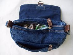 Denim Purse Denim Bag Vintage Recycled by GrannysRecycledRags