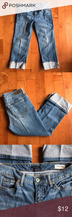 "Tommy Hilfiger Straight Leg Cuffed Tommy Hilfiger Cuffed Jeans. 23"" inseam. Cute and flattering. Tommy Hilfiger Jeans Ankle & Cropped"