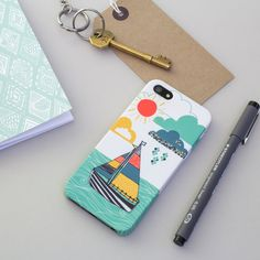 Sailor's Life for Me phone case for iPhone 5 or iPhone 5s - designed by Jessica Hogarth Designs.