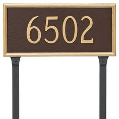 Montague Metal Products Melilla One Line Address Plaque Finish: Black/White