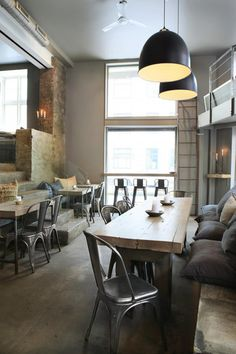 Bolivar restaurant in Oslo, great home idea Decoration Restaurant, Design Bar Restaurant, Deco Restaurant, Industrial Restaurant, Design Café, Deco Design, Cafe Design, House Design, Oslo