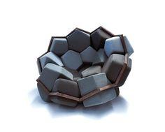 Modernen Stuhl Design Geometrischen Formen