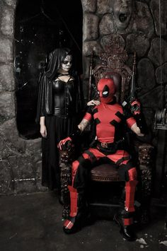 Characters: Lady Death & Deadpool (Wade Wilson) / From: MARVEL Comics 'Deadpool' / Cosplayers: Unknown