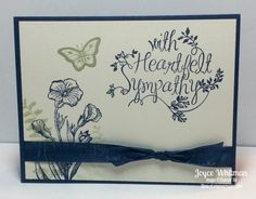 A sympathy card using the stamp set Heartfelt Sympathy from Stampin' Up!