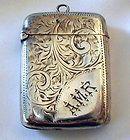 antique sterling silver match case vesta john gilbert 1868 chatelaine