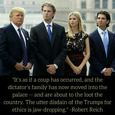 This corrupt family is now the first family.  They are chips off the old block.  Lie, cheat, steal, and do anything to win, even colluding with the Russian government  . .