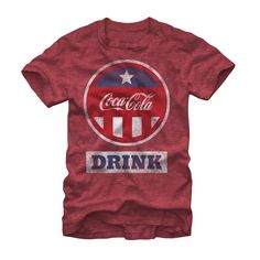 Coca Cola Men's - Red White and Blue Drink T Shirt #fifthsun #cocacola #coke