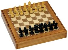 Wooden Chess set with storage