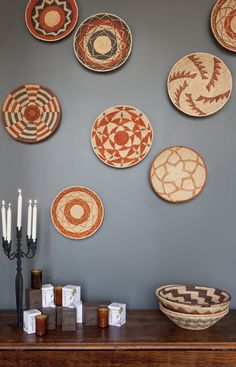 wall color + basket art would blend well w. dining room furniture