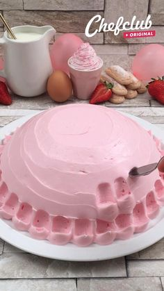 Baking Recipes, Cake Recipes, Dessert Recipes, Delicious Desserts, Yummy Food, Cake Decorating Techniques, Summer Desserts, Strawberry Desserts, Creative Food