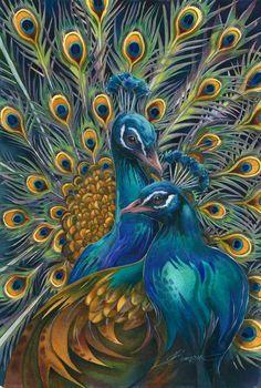 Bergsma Gallery Press::Paintings::Nature::Birds::Misc. Birds::Blue Rhapsody . . . - Prints
