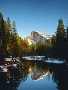 Half Dome Reflected in Merced River, Yosemite National Park Photographic Print by Peter Walton at Art.com