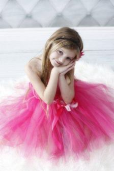 Free Shipping to United States Flower Girl Pink by PoshPixieTutu, $55.00