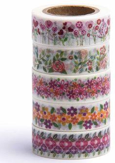 Amazon.com: Washi Tape (Japanese Masking Tape) by MIKOKA, 0.6 Inches Wide, 32.8 Feet Long, Set of 5 - Antique Bright: Arts, Crafts & Sewing