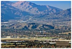 View of Little Mountain and the San Bernardino valley from Redlands.