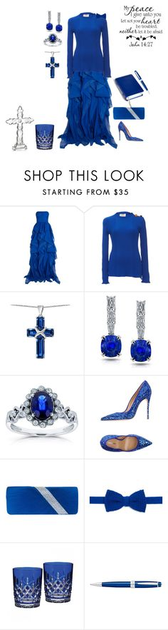 """Pretty Blue!"" by polymorphing ❤ liked on Polyvore featuring Reem Acra, Roksanda, Kobelli, Dsquared2, Koh Koh, Diverso, WALL, Waterford and Cross"
