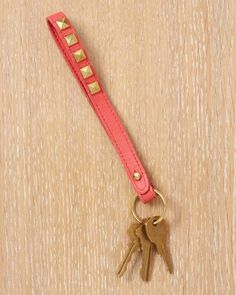 Update a plain keychain with our stud how-to!