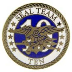 """U.S. Navy SEAL Team 10 Pin 1"""" by FindingKing. $8.99. This is a new U.S. Navy SEAL Team 10 Pin 1"""""""