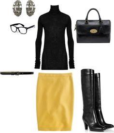 winter - work - black and yellow