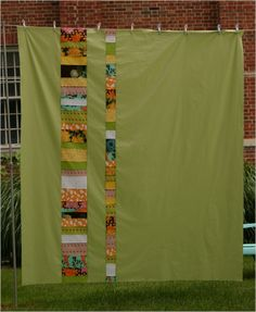 If you piece the back of the quilt, like this one, it's reversible.