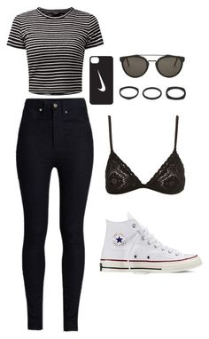 """""""Untitled #192"""" by annikalabonte ❤ liked on Polyvore featuring Rodarte, NIKE, RetroSuperFuture, Vitaly and Converse"""