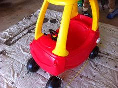 Cozy Coupe to Minnie Mouse Coupe Tutorial - Paperblog