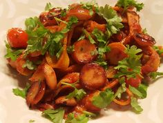 Ranteita myöjen taikinasa: Tomaattinen chorizopasta Pork, Ethnic Recipes, Sweet, Kale Stir Fry, Candy, Pork Chops
