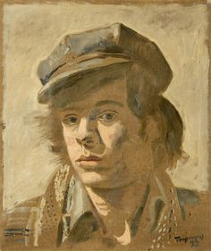 Youth with cap by Yannis Tsarouchis